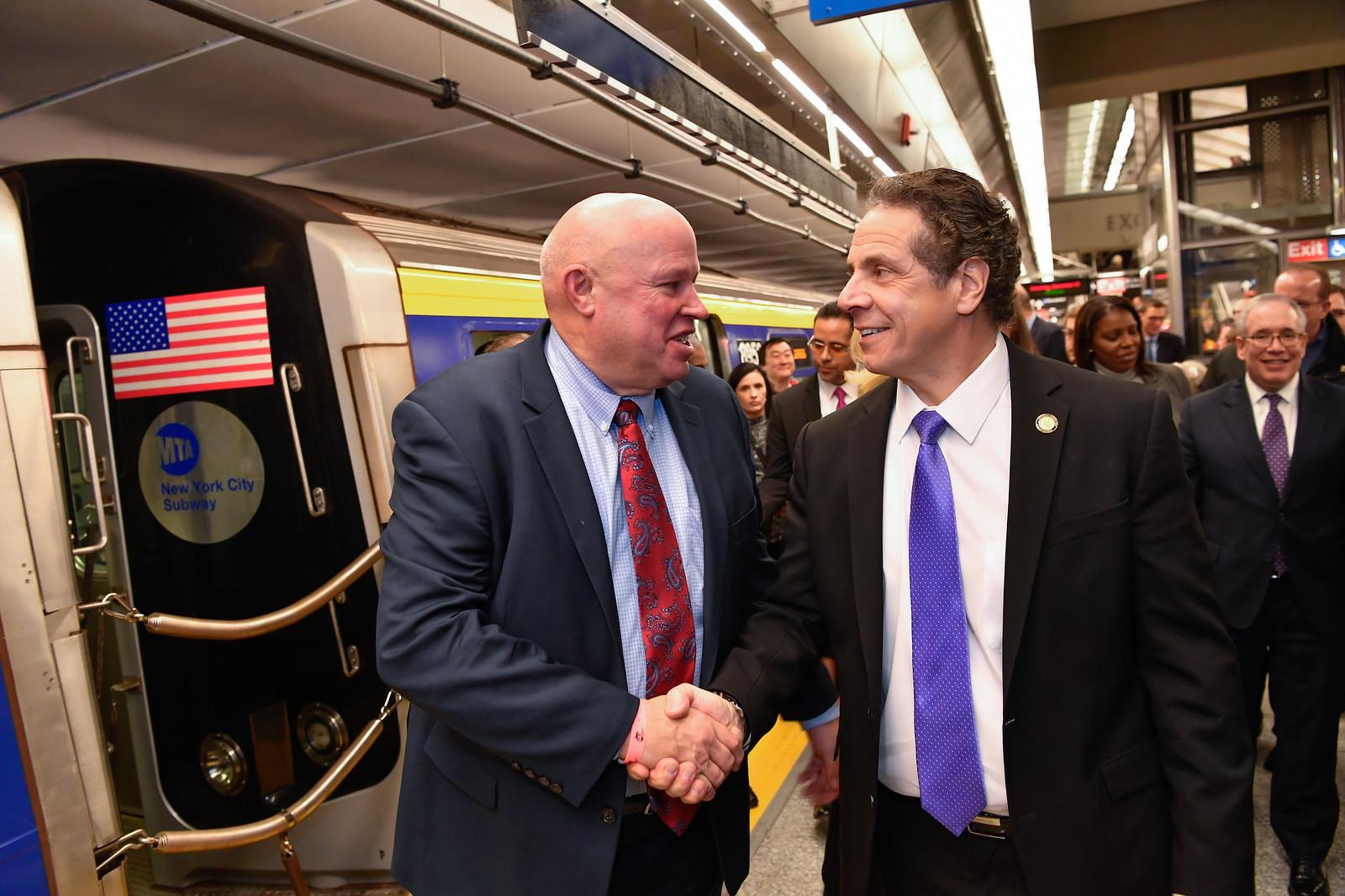 Governor Cuomo Takes Inaugural Ride of the Second Avenue Subway