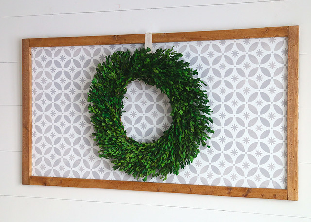 Stenciled Wreath Display