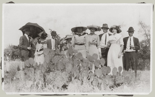 Group with cactus