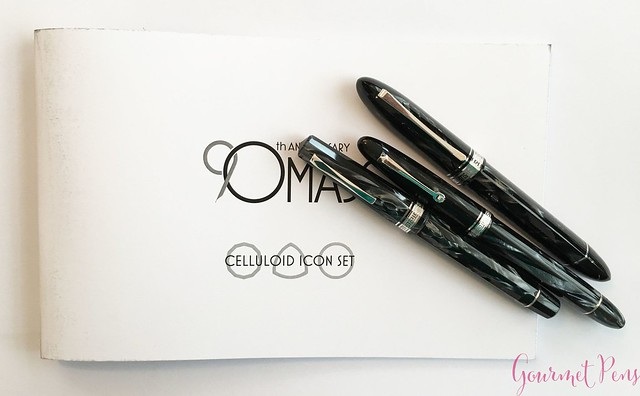 Review 90th Anniversary Omas Icons Celluloid Collection Set @PapierundStift 1