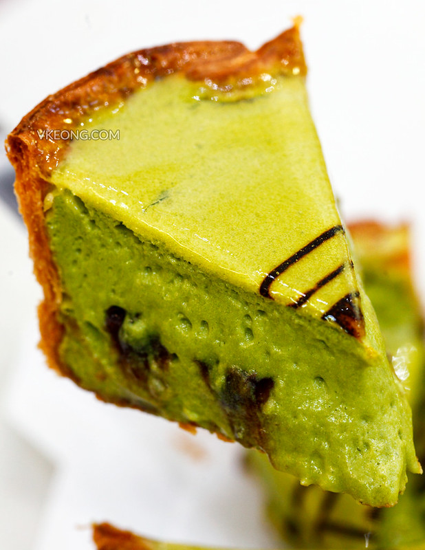 Matcha Cheese Tart with Shiratama & Azuki