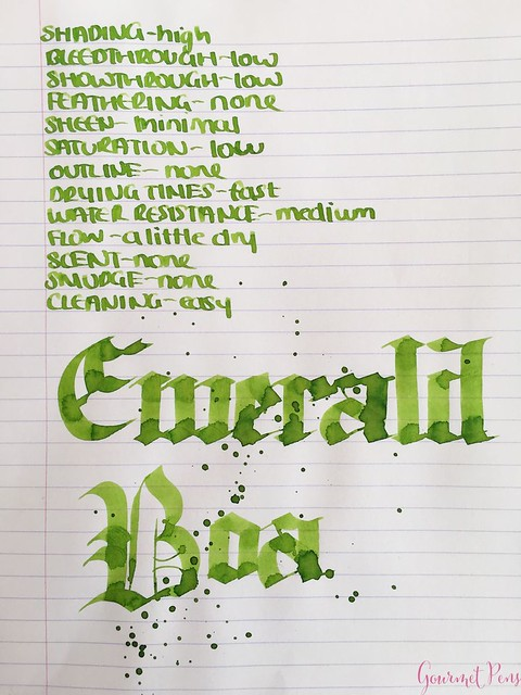 Ink Shot Review Bookbinders Emerald Boa @AndersonPens 8