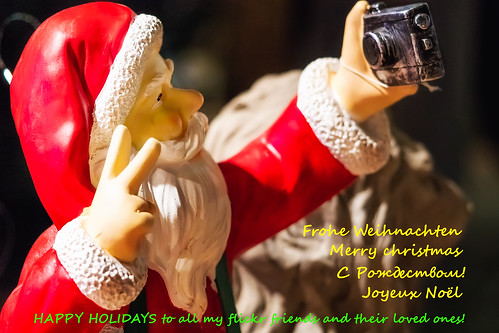 HAPPY HOLIDAYS to all my flickr friends and their loved ones! || Santa selfie ||
