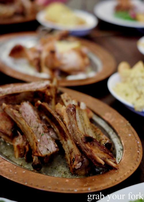 Karburga smoky lamb ribs slow cooked over charcoal at Stanbuli in Enmore