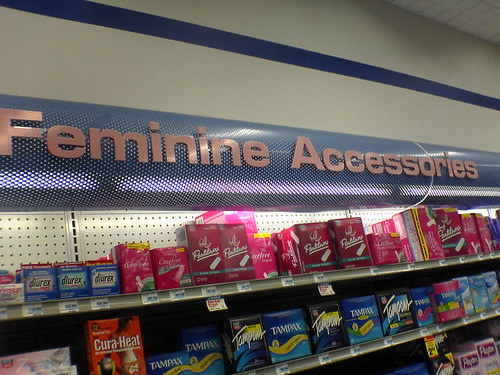 "stupidest name for ""pad aisle"" ever 