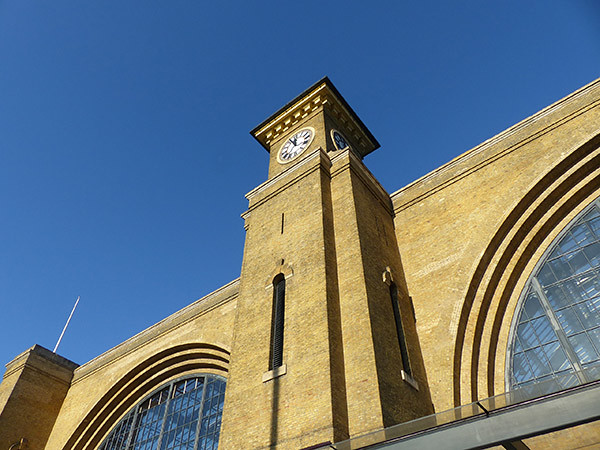 l'horloge de King's Cross