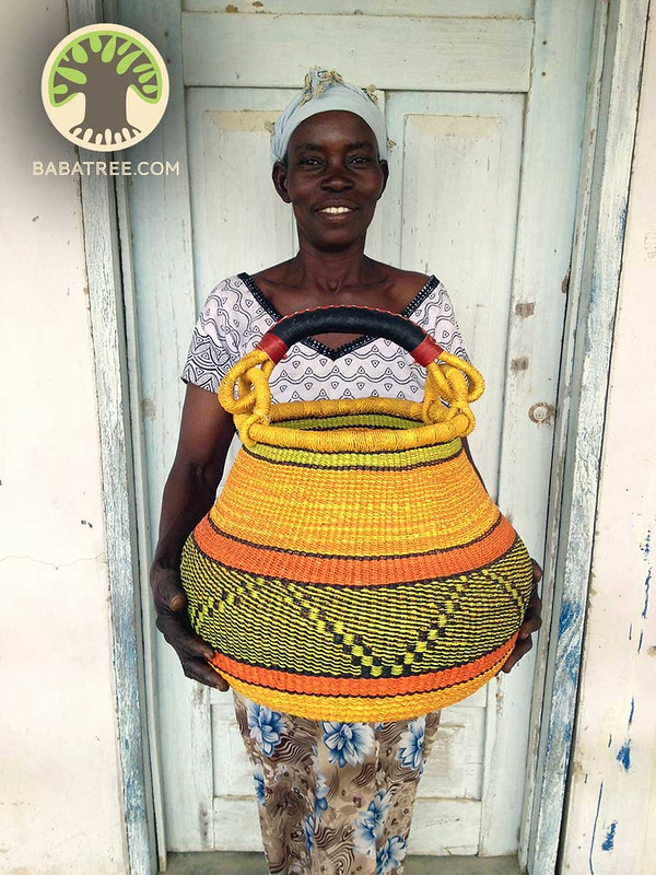 handwoven pot basket