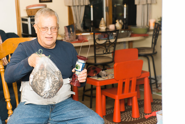 Grandpa's birdseed.
