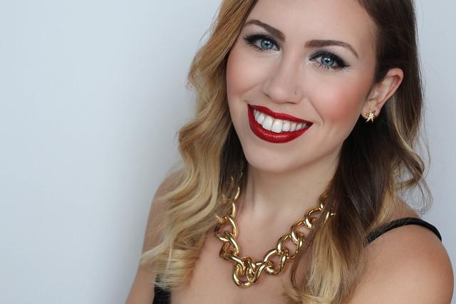 Red Glitter Lips   Festive Holiday NYE Makeup