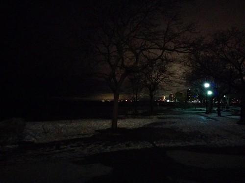 Looking west from the Palais Royale #toronto #lakeontario #palaisroyale #etobicoke #night
