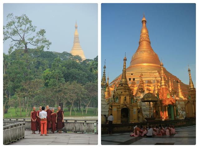 Gold-encrusted stupa, Shwedagon Pagoda
