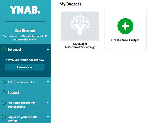 YNAB Get Started Screen