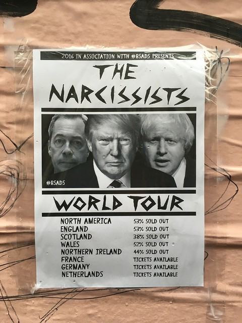 So 2016... Farage, Trump, Johnson - The Narcissists