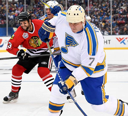 Blues Blackhawks alumni game 2017 WC 3