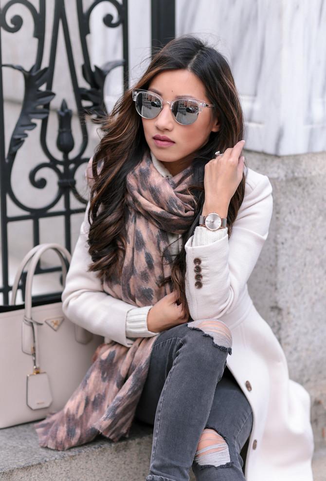 leopard print scarf ann taylor winter style