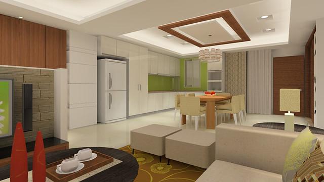 3D室內繪圖設計作品-開元路客廳