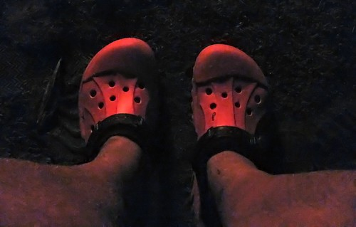 Tuolumne Meadows Lodge Campfire - Red Crocs (0575) after Noiseless app