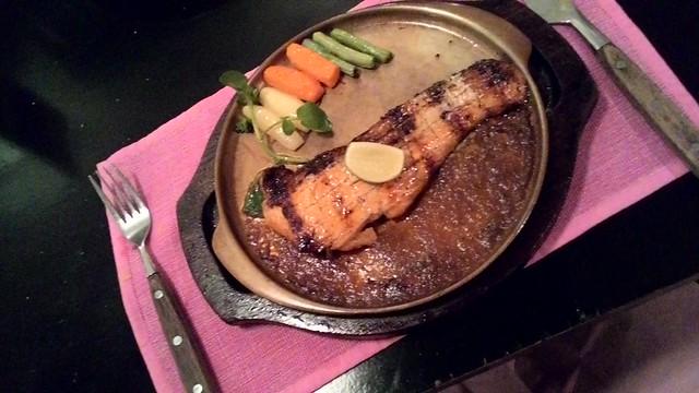 Steak Salmon Medium Well
