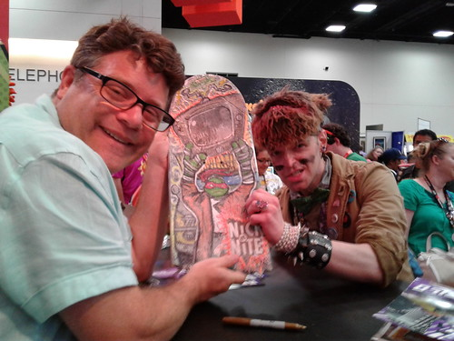 "SDCC 2016 ::Sean Astin with Tokka & ""SAY ANYTHING"" skateboard"
