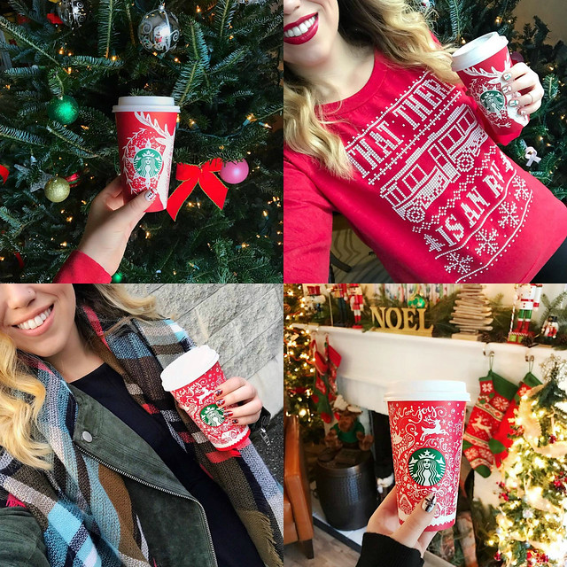 Christmas Nails & Starbucks Red Holiday Cups