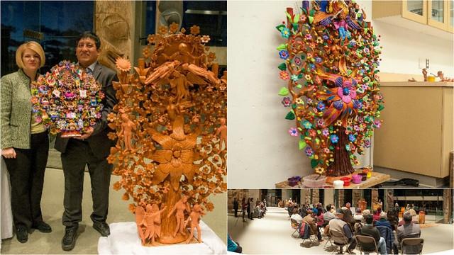 El Árbol de la vida florece, en pleno invierno, en el Museo de Antropología de Vancouver