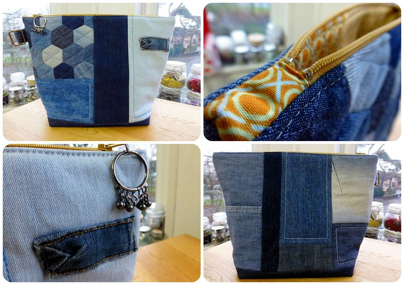 Brit Bee Secret Santa Denim Pouch