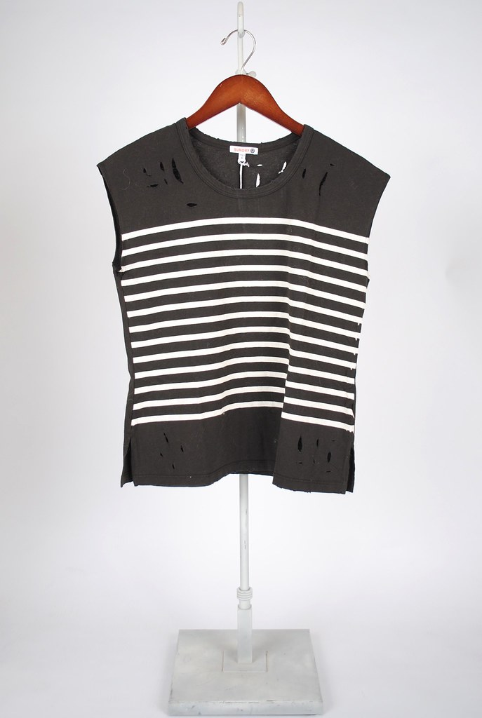Sleeveless Stripe Tee