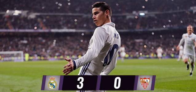 Copa del Rey - Octavos de Final (Ida): Resultados: Real Madrid 3 - Sevilla FC 0
