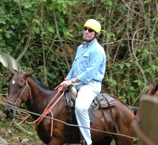 Dad not thrilled on horseback | by Stuck in Customs