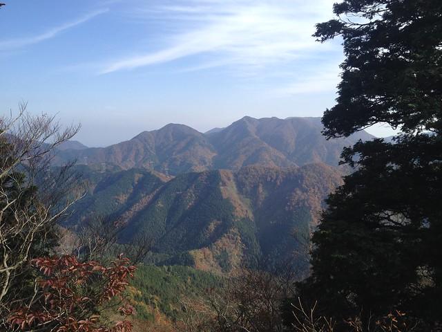 天狗堂 展望岩への道 銚子岳・静ヶ岳・竜ヶ岳