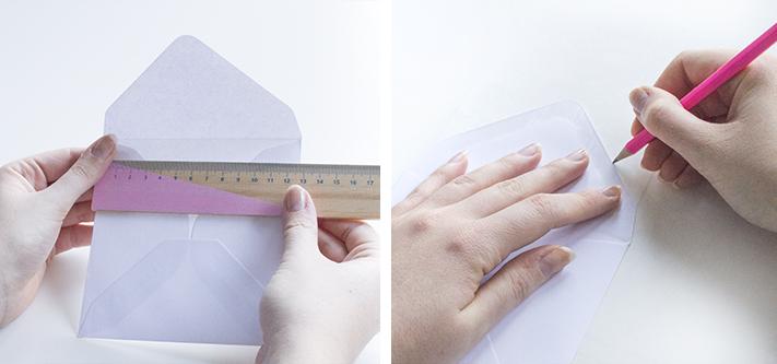 Tutorial handmade envelope liner