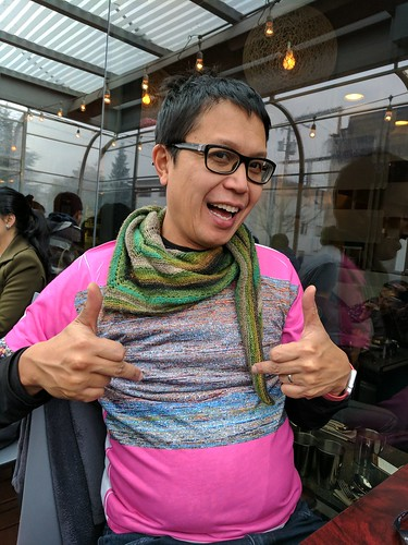 crazy man at rangoli with fab @makevancouver custom pink shirt IMG_20161228_131100