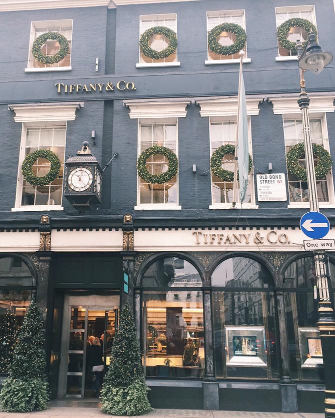 visiting london during holidays tiffany co bond street
