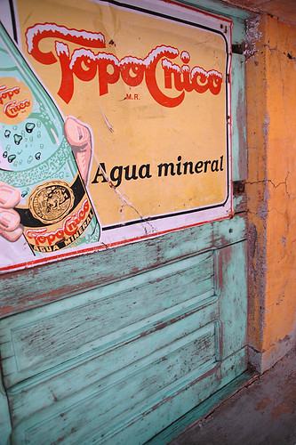 Agua mineral poster in Aguascalientes, Mexico