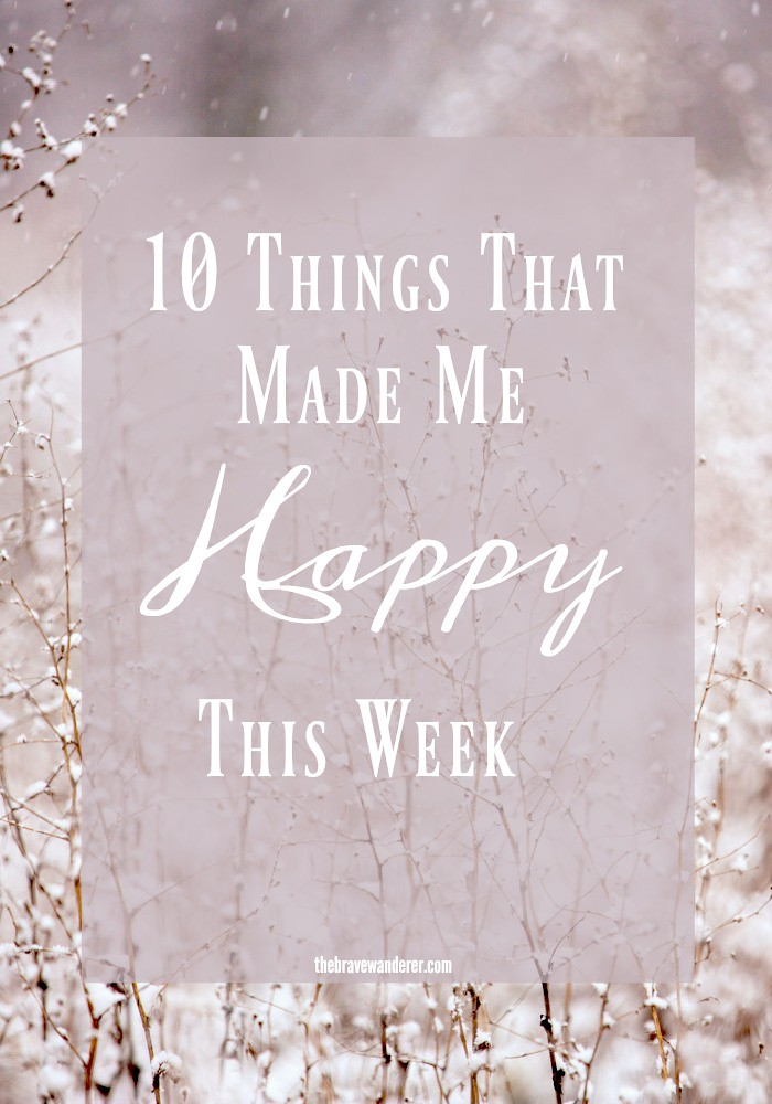 It's important to focus on the positive things and let go of the bad. Join me every Friday sharing your Happy Moments of the week.
