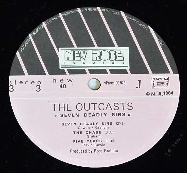 """OUTCASTS SEVEN DEADLY SINS 12"""" LP VINYL"""