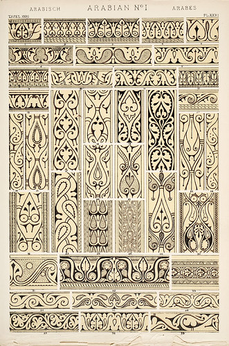 "Image Plate from Owen Jones' 1853 classic, ""The Grammar of Ornament"". 