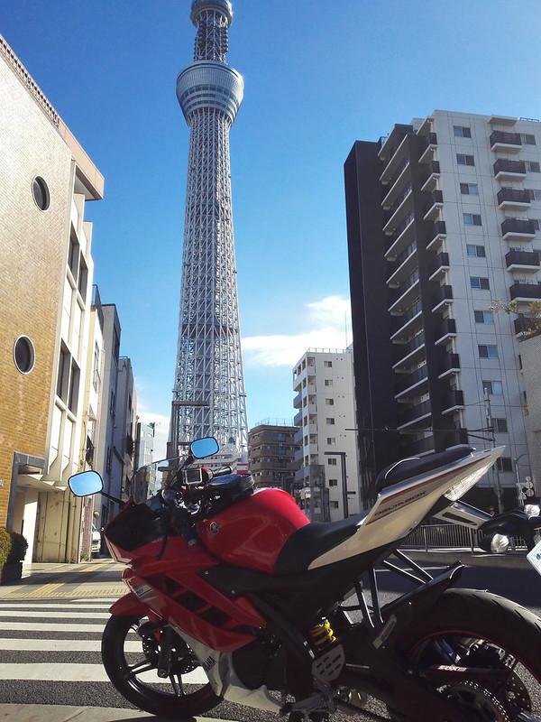 YZF-R15と東京スカイツリー
