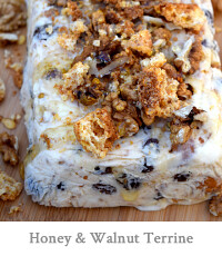 Honey, Walnut & Amaretti Ice Cream Terrine