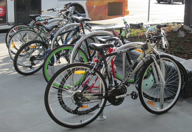 Bicycles parked at Ormond station
