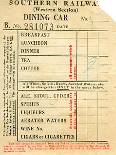 Dining Car Receipt | by Laineys Repertoire