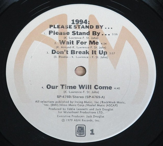 "1994 PLEASE STAND BY 12"" LP VINYL"