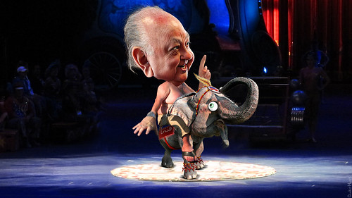 Roger Ailes Grand Poobah of the Fox Circus Riding the Republican Elephant