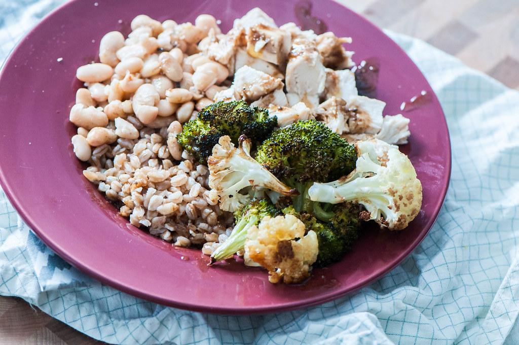 Balsamic Chicken and Veggie Farro Bowls 5