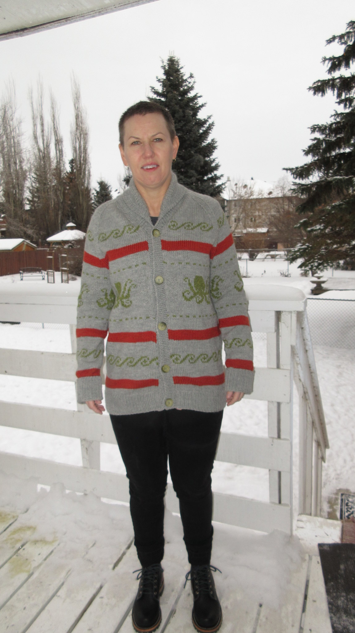 The Knitter's Dude sweater, modified
