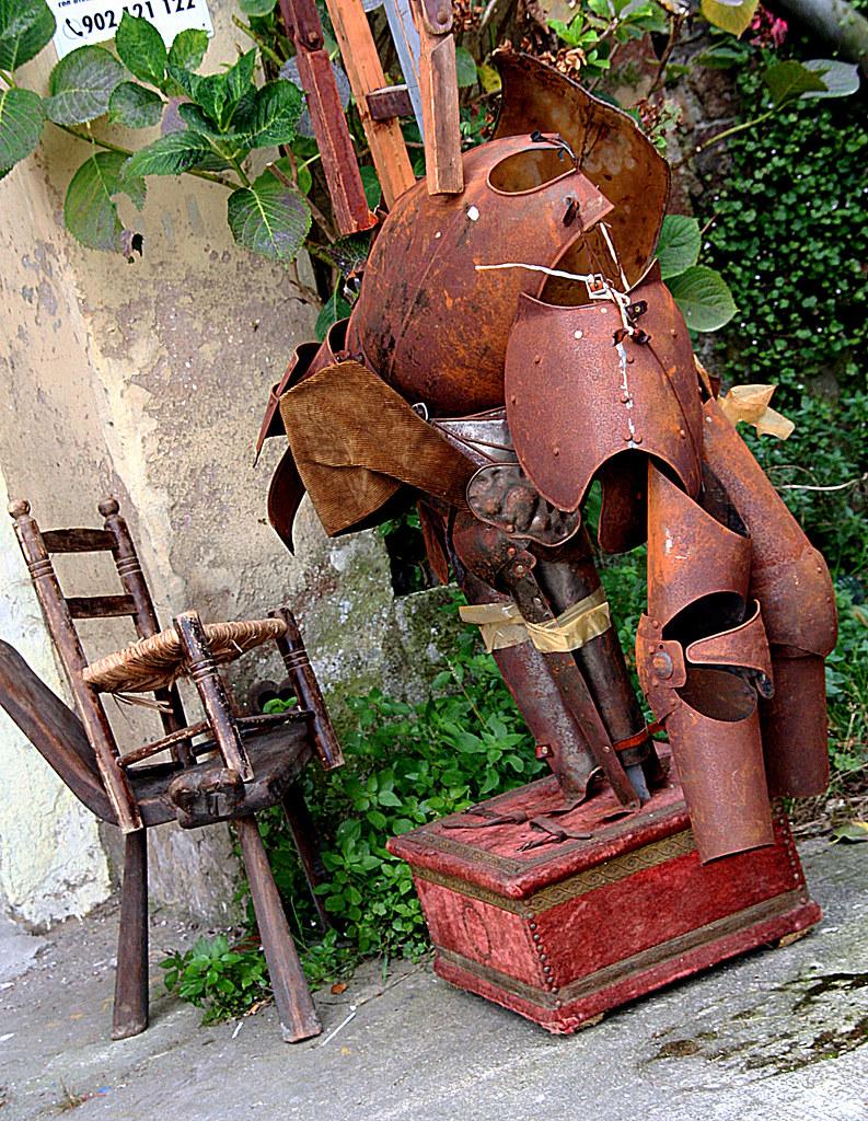 la armadura de Alonso Quijano terminó en el patio de un chamarilero