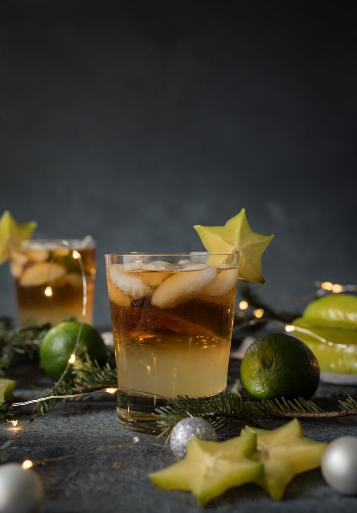 Spicy Dark and Stormy Cocktail #Drinkmas www.pineappleandcoconut.com