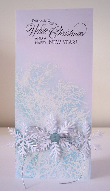 Christmas snowflake card 2