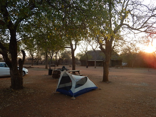 Our cozy tent at the Ndlovu campground