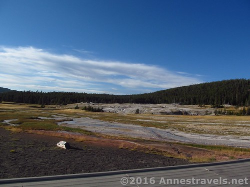 Views across the Upper Geyser Basin, Yellowstone National Park, Wyoming